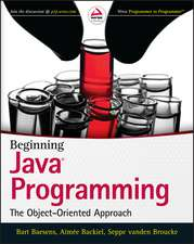 Beginning Java Programming: The Object–Oriented Approach