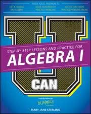 U Can: Algebra I For Dummies