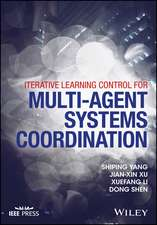 Iterative Learning Control for Multi–agent Systems Coordination