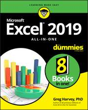Excel 2019 All–in–One For Dummies