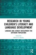 RESEARCH IN YOUNG CHILDREN S LITERA