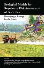 Ecological Models for Regulatory Risk Assessments of Pesticides