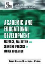 Academic and Educational Development