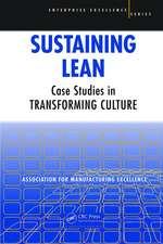 SUSTAINING LEAN CASE STUDIES IN TRA