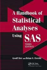 HANDBOOK STATISTICAL ANALYSES SAS 3