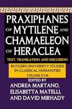 PRAXIPHANES OF MYTILENE AND CHAMAEL