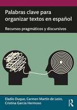 Palabras clave para organizar textos en espanol