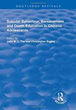 Suicidal Behaviour, Bereavement and Death Education in Chinese Adolescents