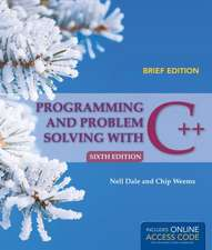 Programming and Problem Solving with C++, Brief:  Competencies for Care