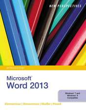 New Perspectives on Microsoft¿ Word 2013, Introductory