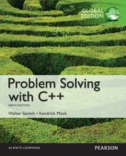 Savitch, W: Problem Solving with C++, Global Edition