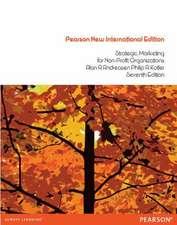 Strategic Marketing for non-profit Organisations:Pearson New International Edition