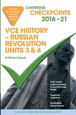 Cambridge Checkpoints VCE History - Russian Revolution 2016-18 and Quiz Me More