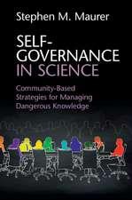 Self-Governance in Science: Community-Based Strategies for Managing Dangerous Knowledge