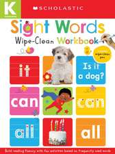 Wipe-Clean Workbooks: Sight Words (Scholastic Early Learners)