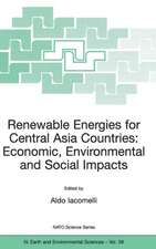 Renewable Energies for Central Asia Countries: Economic, Environmental and Social Impacts
