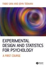 Experimental Design and Statistics for Psychology: A First Course