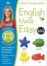 English Made Easy: Early Reading, Ages 3-5 (Preschool): Supports the National Curriculum, Reading Exercise Book