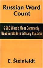 Russian Word Count: 2500 Words Most Commonly Used in Modern Literary Russian