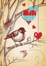 Hearts Large Elastic Journal