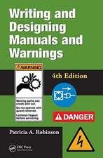 Writing and Designing Manuals and Warnings