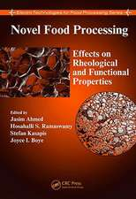 Novel Food Processing:  Effects on Rheological and Functional Properties