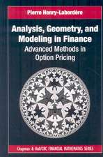 Analysis, Geometry, and Modeling in Finance