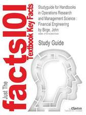 Studyguide for Handbooks in Operations Research and Management Science