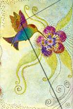 Laurel Burch, Hummingbird, Mini, Lin