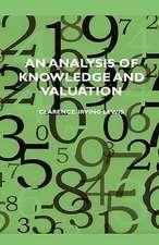 An Analysis of Knowledge and Valuation:  Paris - Sahara - Timbuctoo (1933)
