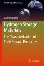 Hydrogen Storage Materials: The Characterisation of Their Storage Properties