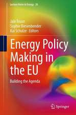 Energy Policy Making in the EU: Building the Agenda