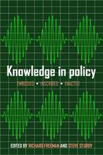 Knowledge in Policy: Embodied, Inscribed, Enacted