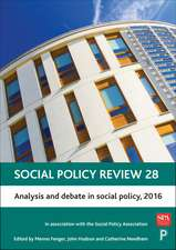 Social Policy Review 28: Analysis and Debate In Social Policy, 2016