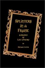 Splinters in a Frame:  A Snippet of Life's Poetry