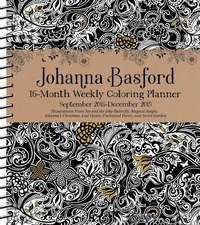 Johanna Basford 2018-2019 16-Month Coloring Weekly Planner Calendar