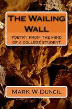 The Wailing Wall:  From the Mind of a College Student