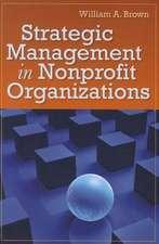 Strategic Management in Nonprofit Organizations