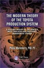 The Modern Theory of the Toyota Production System:  A Systems Inquiry of the World S Most Emulated and Profitable Management System