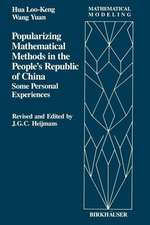 Popularizing Mathematical Methods in the People's Republic of China: Some Personal Experiences