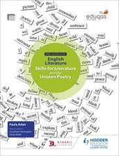 WJEC Eduqas GCSE English Literature Skills for Literature and the Unseen Poetry Student's Book