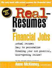 Real Resumes for Financial Jobs