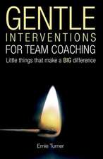 Gentle Interventions for Team Coaching
