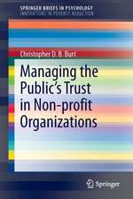 Managing the Public's Trust in Non-profit Organizations
