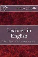 Lectures in English