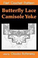 Butterfly Lace Camisole Yoke Filet Crochet Pattern
