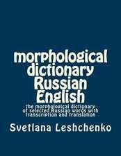 Morphological Dictionary Russian English