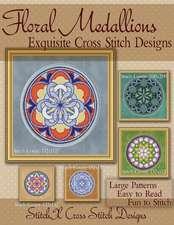 Floral Medallions Exquisite Cross Stitch Designs