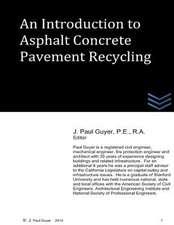 An Introduction OT Asphalt Concrete Pavement Recycling