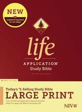 NIV Life Application Study Bible, Third Edition, Large Print (Red Letter, Hardcover)